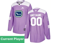 Mens Women Youth Nhl Vancouver Canucks Purple Fights Cancer Adidas Practice Jersey