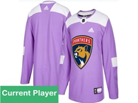 Mens Women Youth Nhl Florida Panthers Purple Fights Cancer Adidas Practice Jersey