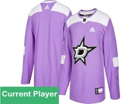 Mens Women Youth Nhl Dallas Stars Purple Fights Cancer Adidas Practice Jersey