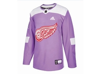 Mens Women Youth Nhl Detroit Red Wings (custom Made) Purple Fights Cancer Adidas Practice Jersey
