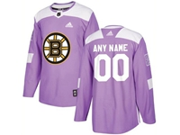 Mens Women Youth Nhl Boston Bruins (custom Made) Purple Fights Cancer Adidas Practice Jersey