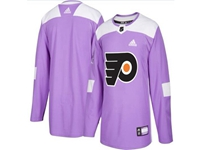 Mens Women Youth Nhl Philadelphia Flyers (custom Made) Purple Fights Cancer Adidas Practice Jersey