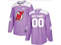 Mens Women Youth Nhl New Jersey Devils (custom Made) Purple Fights Cancer Adidas Practice Jersey