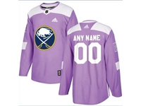 Mens Women Youth Nhl Buffalo Sabres (custom Made) Purple Fights Cancer Adidas Practice Jersey