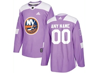 Mens Women Youth Nhl New York Islanders (custom Made) Purple Fights Cancer Adidas Practice Jersey