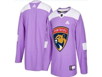 Mens Women Youth Nhl Florida Panthers (custom Made) Purple Fights Cancer Adidas Practice Jersey
