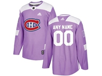 Mens Women Youth Nhl Montreal Canadiens (custom Made) Purple Fights Cancer Adidas Practice Jersey