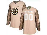 Mens Women Youth Nhl Boston Bruins (custom Made) Khaki Adidas General Jersey