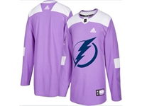 Mens Women Youth Nhl Tampa Bay Lightning (custom Made) Purple Fights Cancer Adidas Practice Jersey