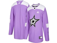 Mens Women Youth Nhl Dallas Stars (custom Made) Purple Fights Cancer Adidas Practice Jersey