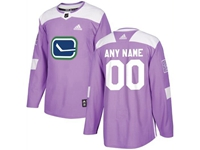 Mens Women Youth Nhl Vancouver Canucks (custom Made) Purple Fights Cancer Adidas Practice Jersey