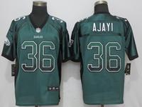 Mens Nfl Philadelphia Eagles #36 Jay Ajayi Green Drift Fashion Elite Jersey