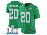 Mens Women Youth Nfl Philadelphia Eagles #20 Brian Dawkins Light Green 2018 Super Bowl Lii Bound Vapor Untouchable Limited Jersey