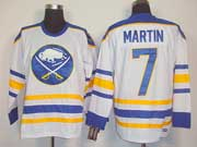 Mens nhl buffalo sabres #7 martin white 3rd throwbacks Jersey