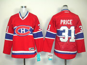 women reebok nhl Montreal Canadiens #31 Carey Price red (ch) jersey