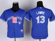 youth mlb toronto blue jays #13 lawrie blue 2012 new style Jersey