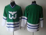 Nhl Hartford Whalers (custom Made)green Throwbacks Jersey