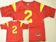 Mens Ncaa Nfl Usc Trojans #2 Woods Red Jersey