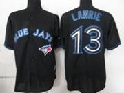 Mens mlb toronto blue jays #13 lawrie black 2012 new style Jersey