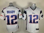 mens nfl New England Patriots #12 Tom Brady white game jersey