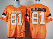 Mens Ncaa Nfl Oklahoma State Cowboys #81 Blackmon Orange Jersey
