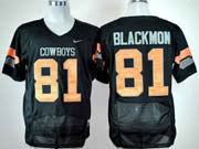 Mens Ncaa Nfl Oklahoma State Cowboys #81 Blackmon Black Jersey