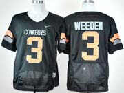 Mens Ncaa Nfl Oklahoma State Cowboys #3 Weeden Black Jersey