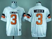 Mens Ncaa Nfl Oklahoma State Cowboys #3 Weeden White Jersey