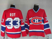 Mens nhl montreal canadiens #33 roy red (ch) throwbacks Jersey