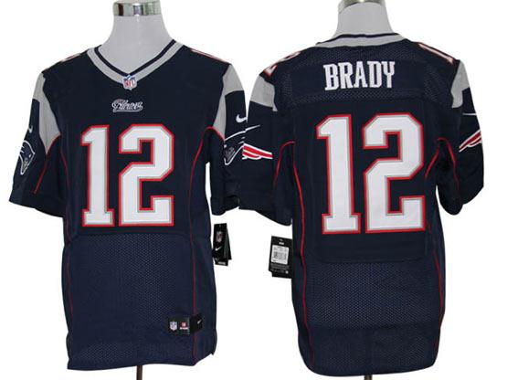 mens nfl New England Patriots #12 Tom Brady blue elite jersey