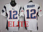 mens nfl New England Patriots #12 Tom Brady white elite jersey
