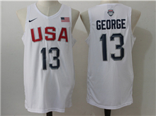 Mens Nba 12 Dream Teams #13 Paul George White Jersey