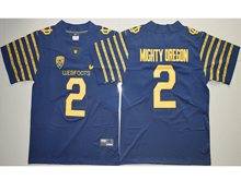 Mens Ncaa Nfl Oregon Ducks #2 Bralon Addison Navy Blue Weebfoot 100th Rose Bowl Game Elite Jersey