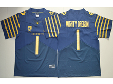 Mens Ncaa Nfl Oregon Ducks #1 Fan Navy Blue Weebfoot 100th Rose Bowl Game Elite Jersey