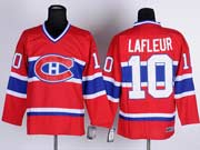 Mens nhl montreal canadiens #10 lafleur red (ch) throwbacks Jersey