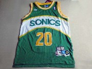 Mens Nba Seattle Supersonics Custom Made Green & White Adidas Hardwood Throwback Jersesy