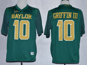Mens Ncaa Nfl Baylor Bears #10 Griffin Iii Green Jersey Gz