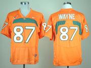 Mens Ncaa Nfl Miami Hurricanes #87 Wayne Orange Jersey Gz