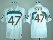 Mens Ncaa Nfl Miami Hurricanes #47 Irvin White Jersey Gz