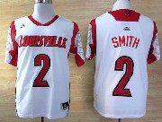 Mens Ncaa Nba Louisville Cardinals #2 Smith White Jersey Gz