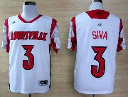 Mens Ncaa Nba Louisville Cardinals #3 Siva White Jersey Gz