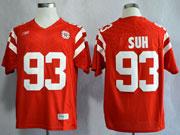 Mens Ncaa Nfl Nebraska Cornhuskers #93 Suh Red Jersey Gz