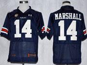 Mens Ncaa Nfl Auburn Tigers #14 Marshall Dark Blue Elite Jersey Gz