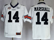 Mens Ncaa Nfl Auburn Tigers #14 Marshall White Elite Jersey Gz