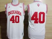 Mens Ncaa Nba Indiana Hoosiers #40 Cody Zeller White Jersey Gz