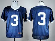 Mens Ncaa Nfl Penn State Nittany Lions #3 Blue Elite Jersey Gz