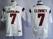 Mens Ncaa Nfl South Carolina Gamecock #7 Clowney White (sec) Elite Jersey Gz