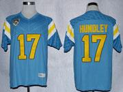 Mens Ncaa Nfl Ucla Bruins #17 Hundley Blue Jersey Gz