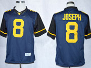 Mens Ncaa Nfl Virginia Mountaineers #8 Joseph Blue Limited Jersey Gz