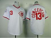Mens Mlb Cincinnati Reds #13 Concepcion White 1976 Throwbacks Jersey